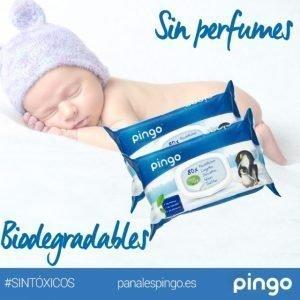 Toallitas húmedas ecológicas biodegradables Pingo