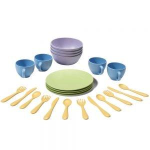 Set de platos, vasos y cubiertos Green Toys