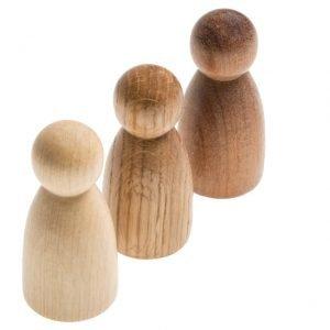 3 nins® de madera Grapat
