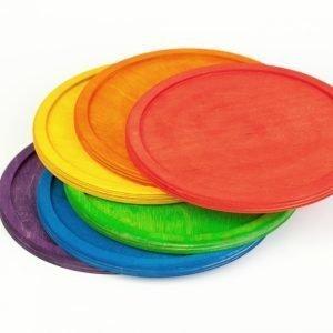 6 platos arcoíris Grapat
