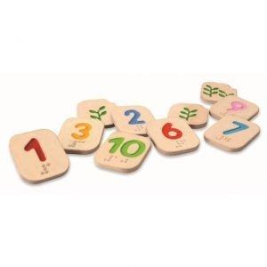 Números en Braille del 1 al 10 Plantoys