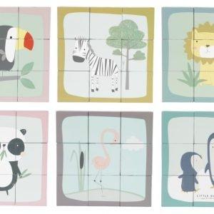 Puzzle cubos zoo Little Dutch