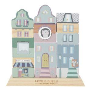 Bloques edificios Aventura Azul Little Dutch