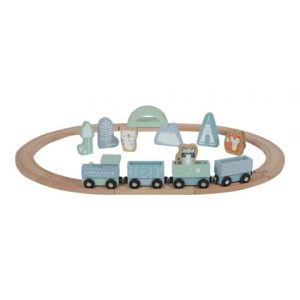 Set de trenes Aventura Azul Little Dutch