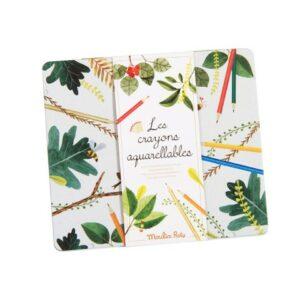 Caja 24 lápices acuarelables El jardín Moulin Roty