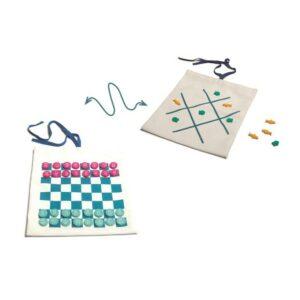 Juegos de viaje: ajedrez, damas, tic tac toe