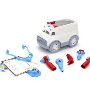 Ambulancia y set de doctor Green Toys